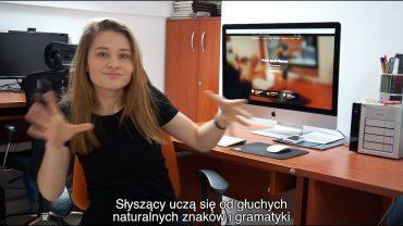 Informacja dla osób chcących uczyć się języka migowego