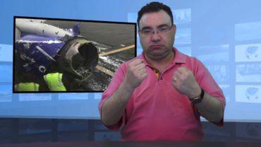 Wybuch silnika w samolocie i śmierć