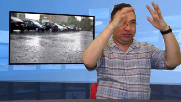 Parasolką ochroniła auto sąsiada!